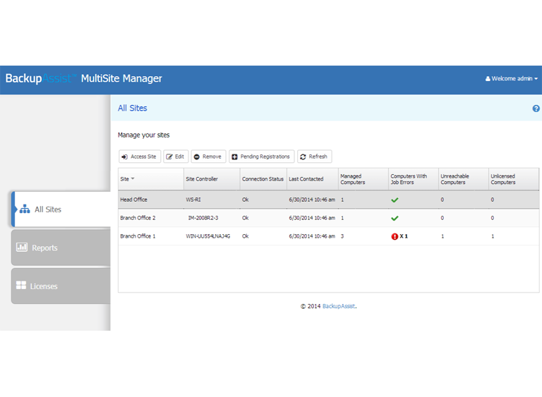 MultiSite Manager makes it easy to remotely deploy BackupAssist