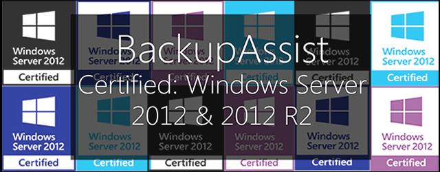 BackupAssist windows server 2012