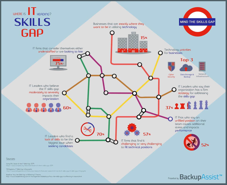 IT skills gap infographic