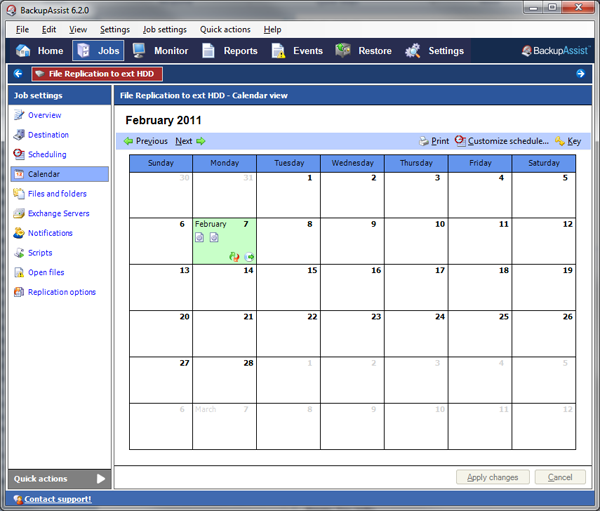 Monthly Calendar You Can Edit : Backupassist how to scheduling monthly backups