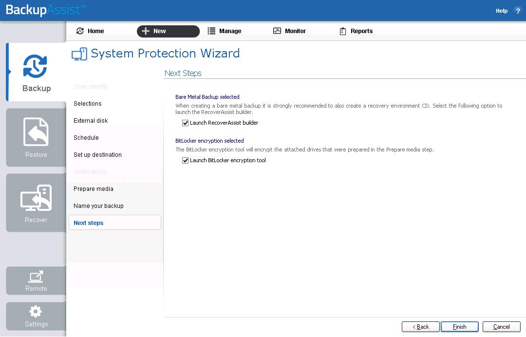 BitLocker Encryption   BackupAssist 8