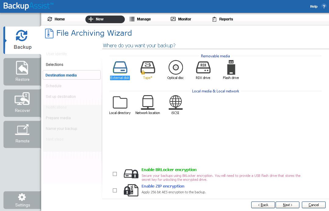 File Archiving   BackupAssist