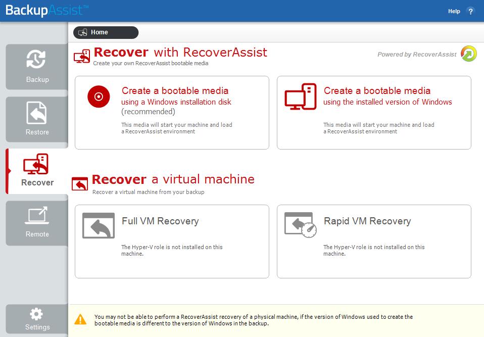 System Recovery | BackupAssist
