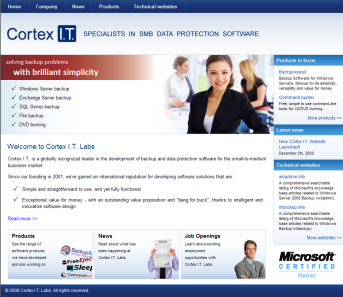 Cortex IT Labs website
