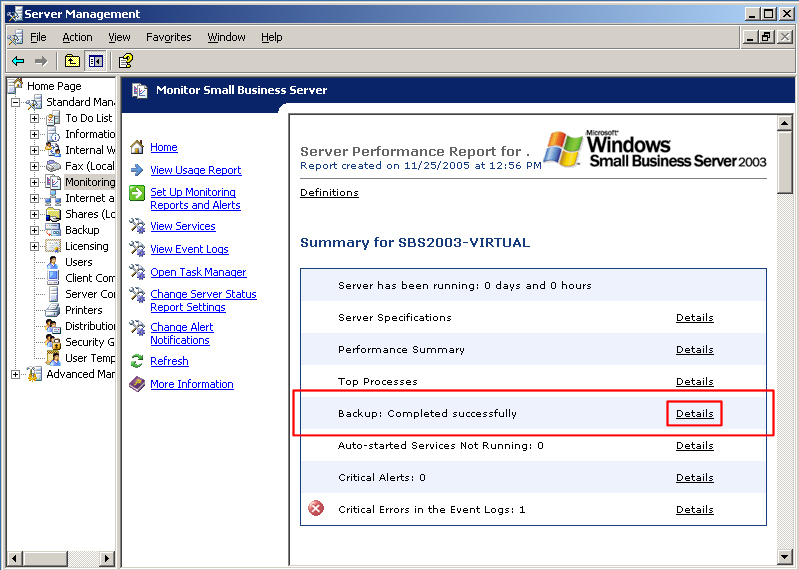 How to Backup Windows Small Business Server Excellently?