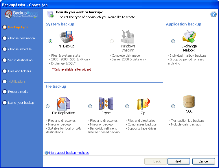 Simple Windows Server backups
